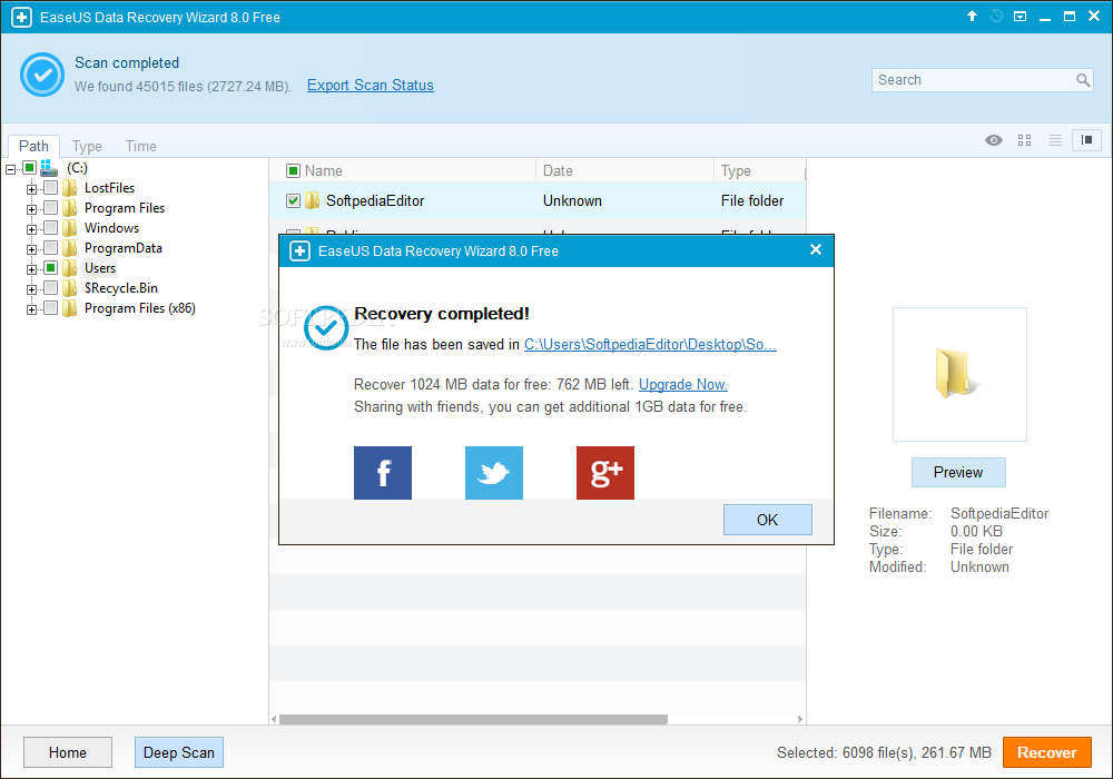 EaseUS Data Recovery Wizard v12 Crack Free Download