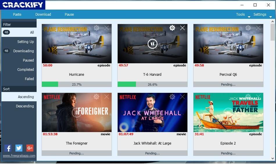FlixGrab+ Premium 1.5.2.276 Crack Free Download