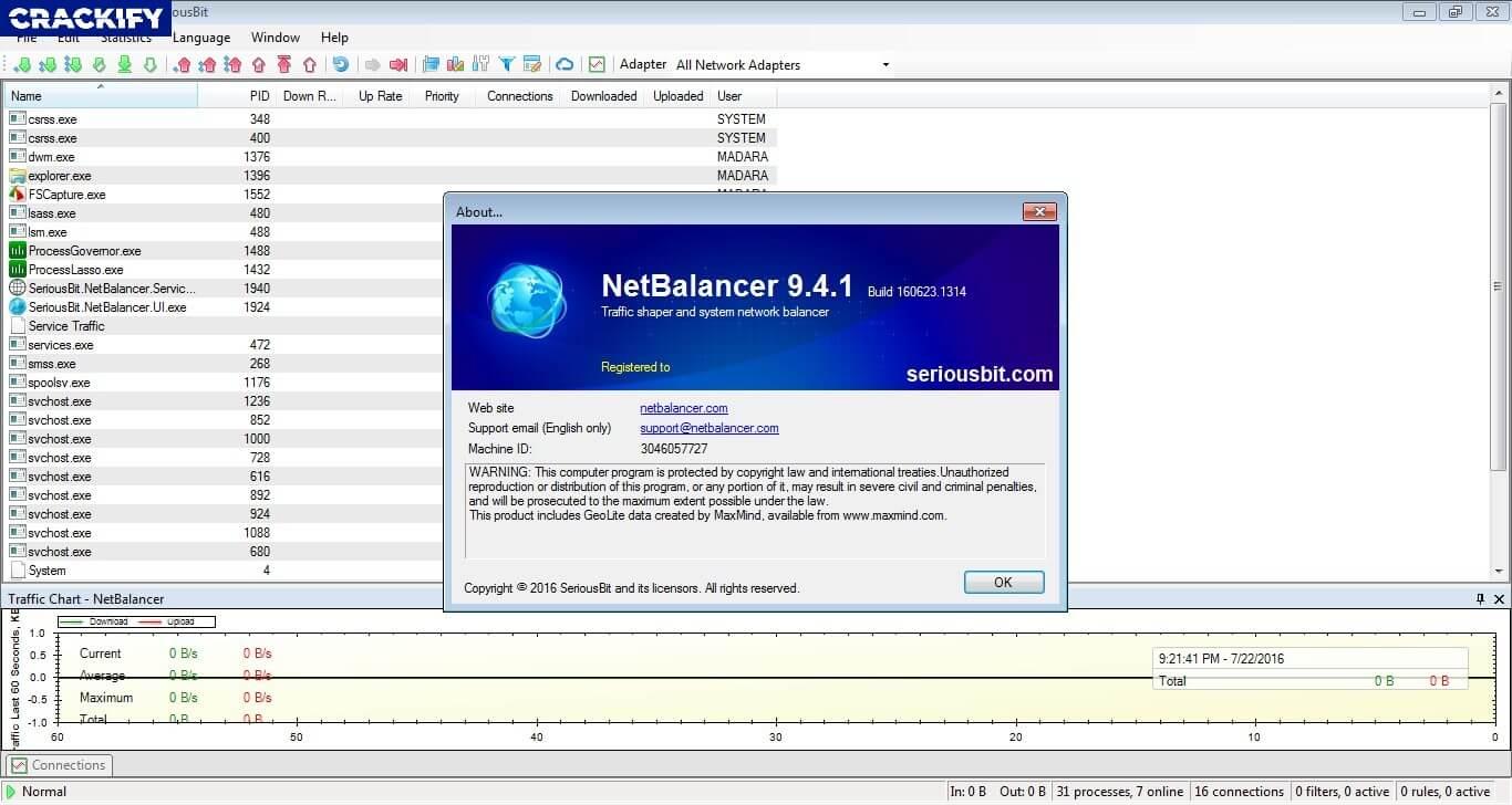 NetBalancer 9.12.9 Crack Free Download