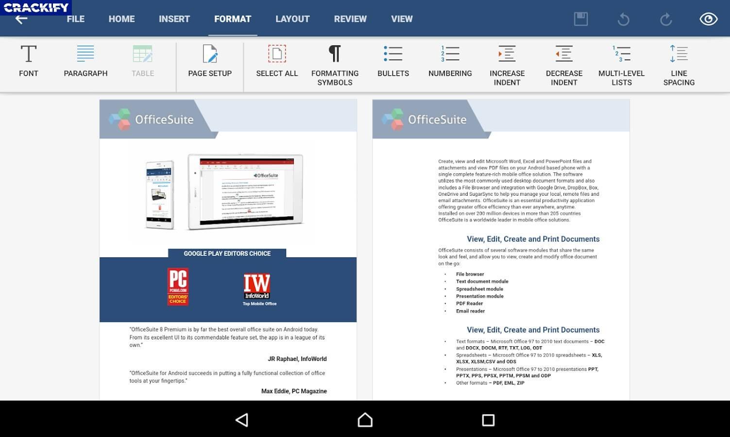 OfficeSuite Premium 2.98 Crack Free Download