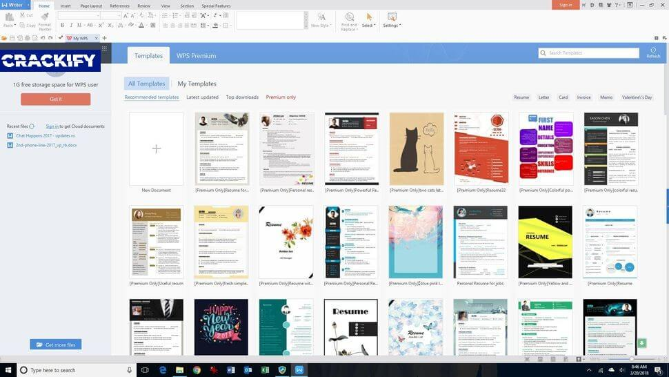WPS Office Premium 11.2 Crack Free Download