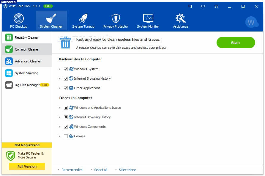 Wise Care 365 Pro 5.2 Crack Free Download