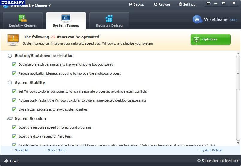 Wise Registry Cleaner Pro Crack Free Download