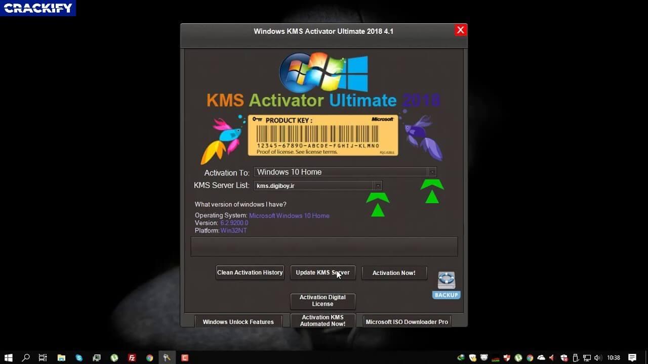 KMS Activator Windows 10 Ultimate Screenshot 1