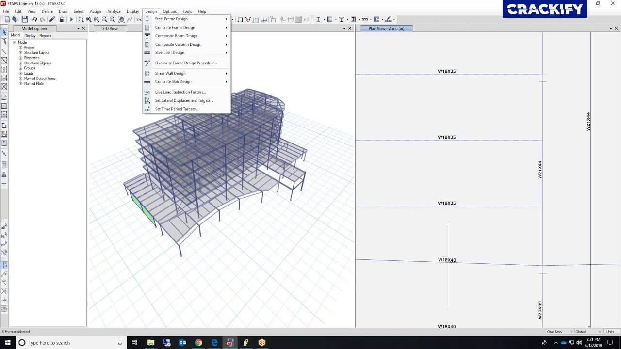 CSI ETABS Ultimate Screenshot