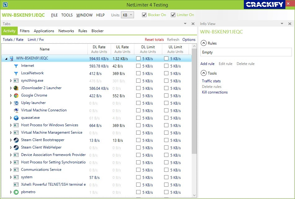 NetLimiter Pro Screenshot