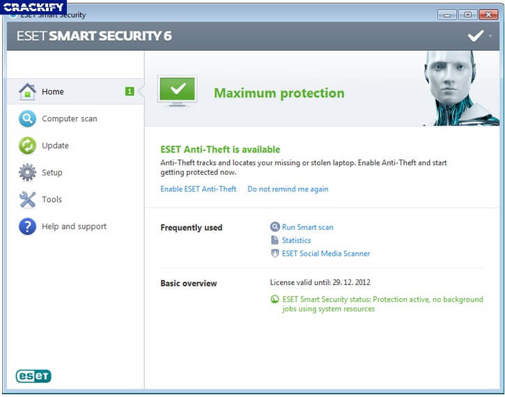 ESET Internet Security Screenshot