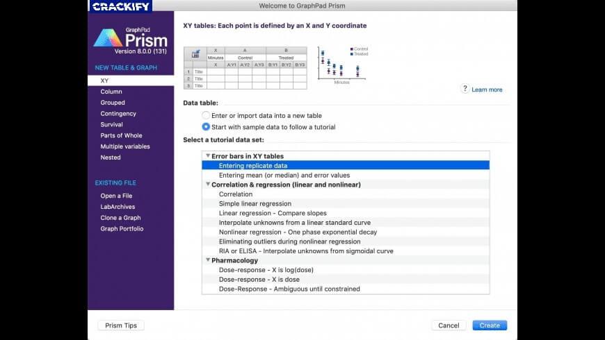 GraphPad Prism Screenshot