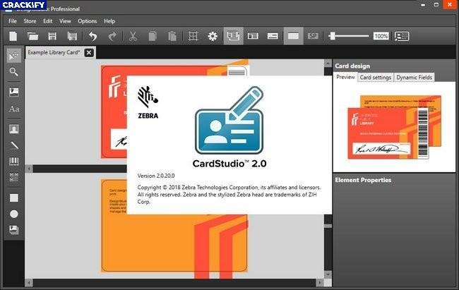 Zebra CardStudio Professional Screenshot