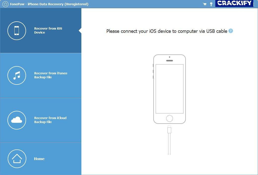 FonePaw iPhone Data Recovery Screenshot