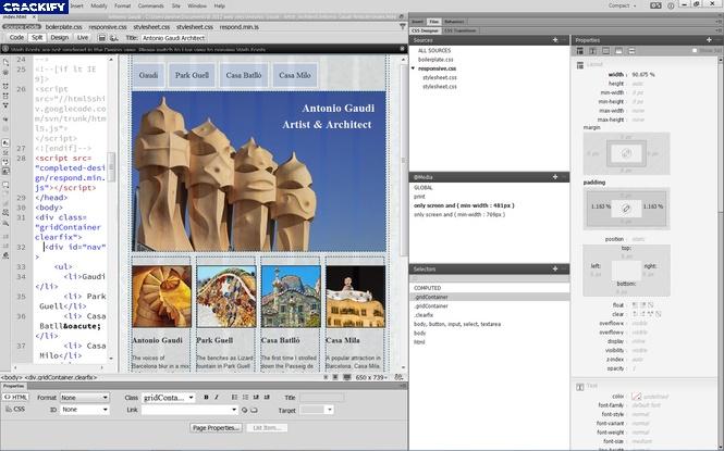Adobe Dreamweaver Screenshot